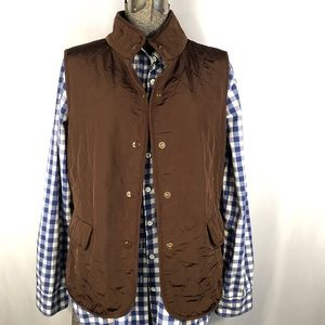 Talbots Brown Quilted Vest